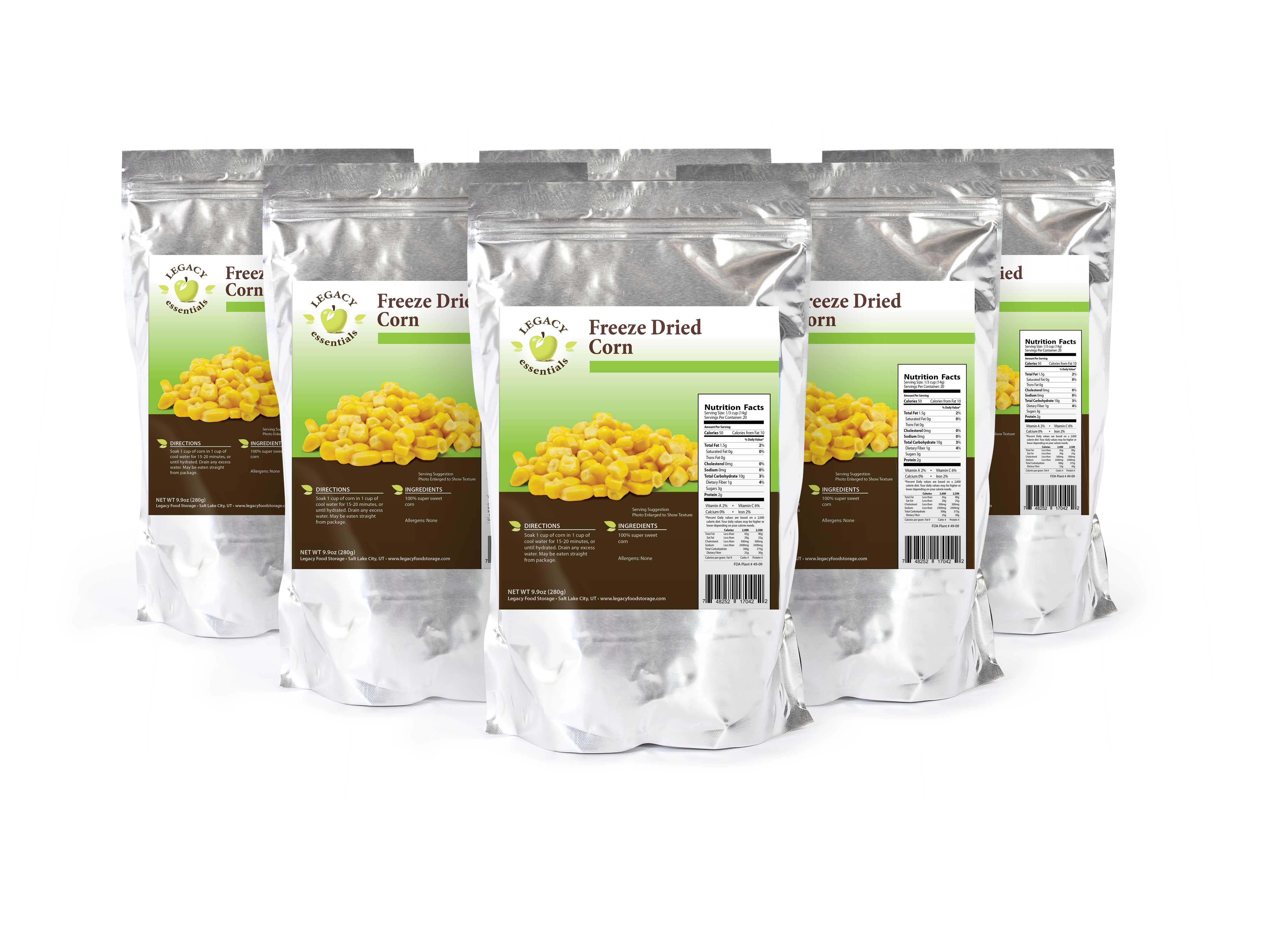 20 Servings Freeze-Dried Corn Pouch u2013 6 pack  sc 1 st  Outback Survival Supplies & 20 Servings Freeze-Dried Corn Pouch - 6 pack - Outback Survival Supplies